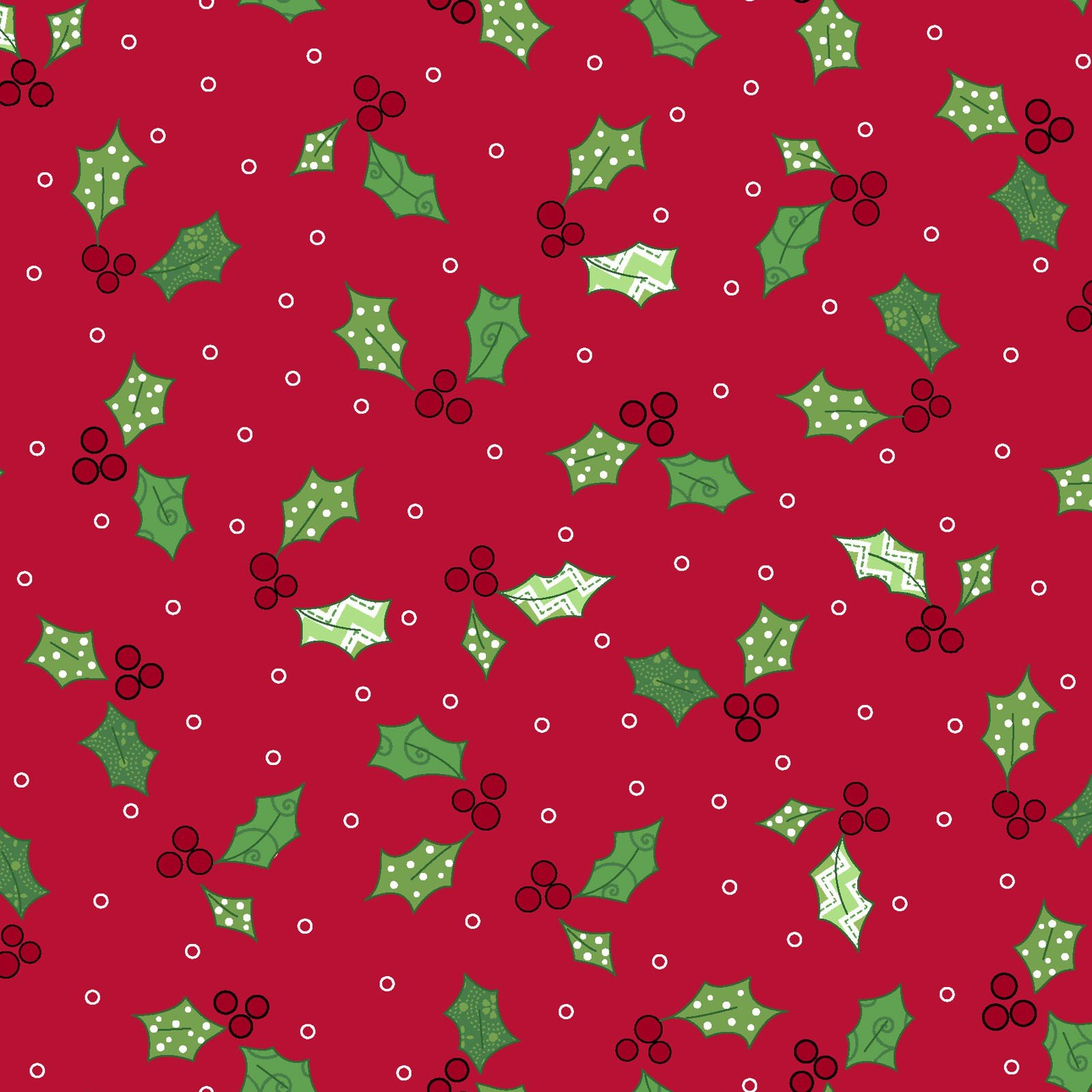 Holly and Berries/red