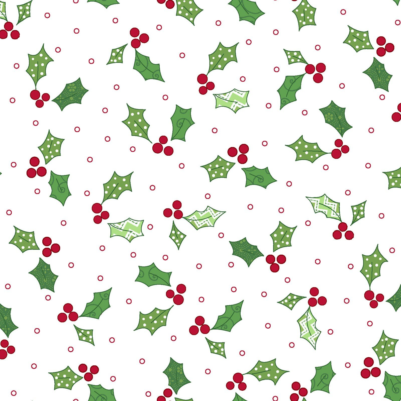 Jingle All the Way Holly and Berries