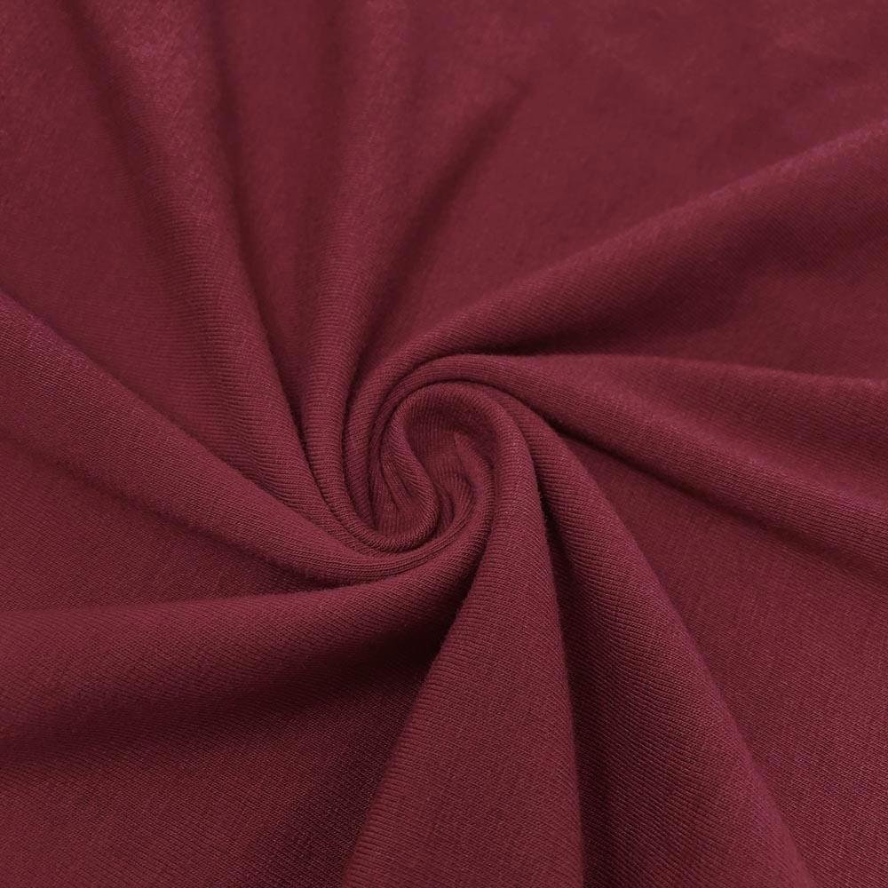 Burgundy Cotton/Spendex Jersey Knit