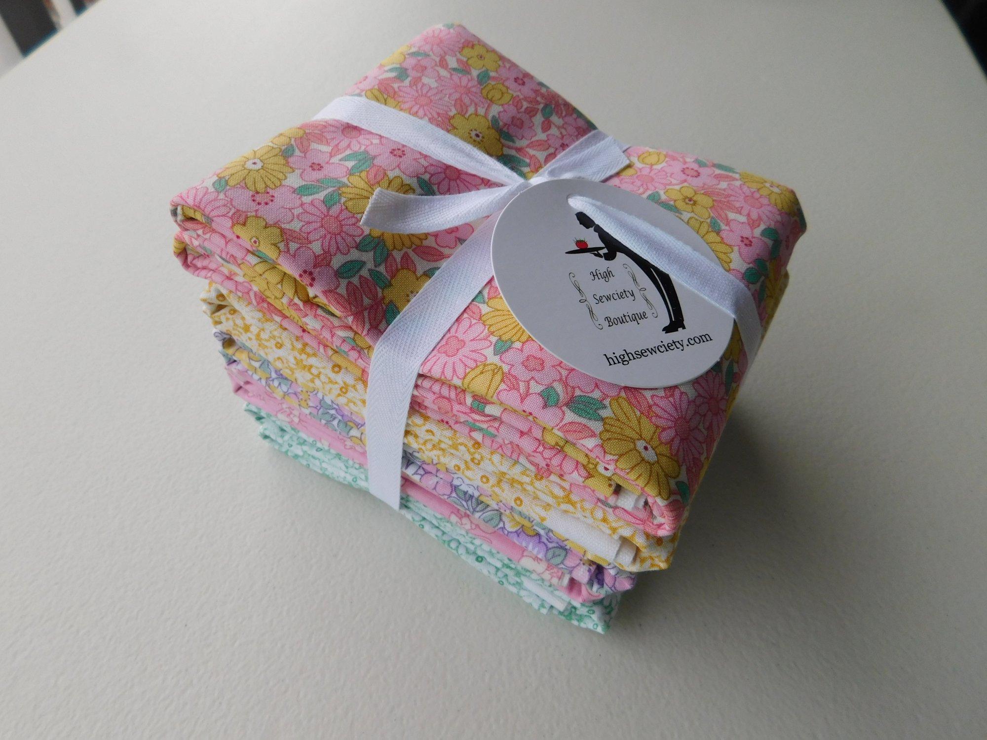 Henry Glass Nana Mae 1 Yard Fabric Bundle - Pink