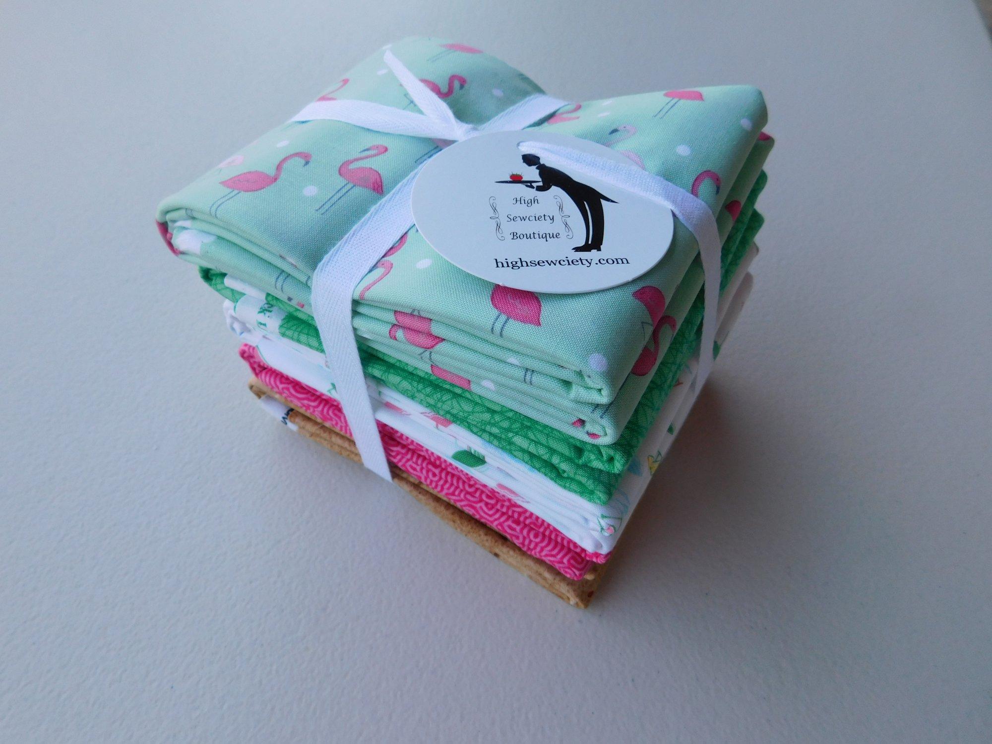 1 yd Flamingo Beach Fabric Bundle