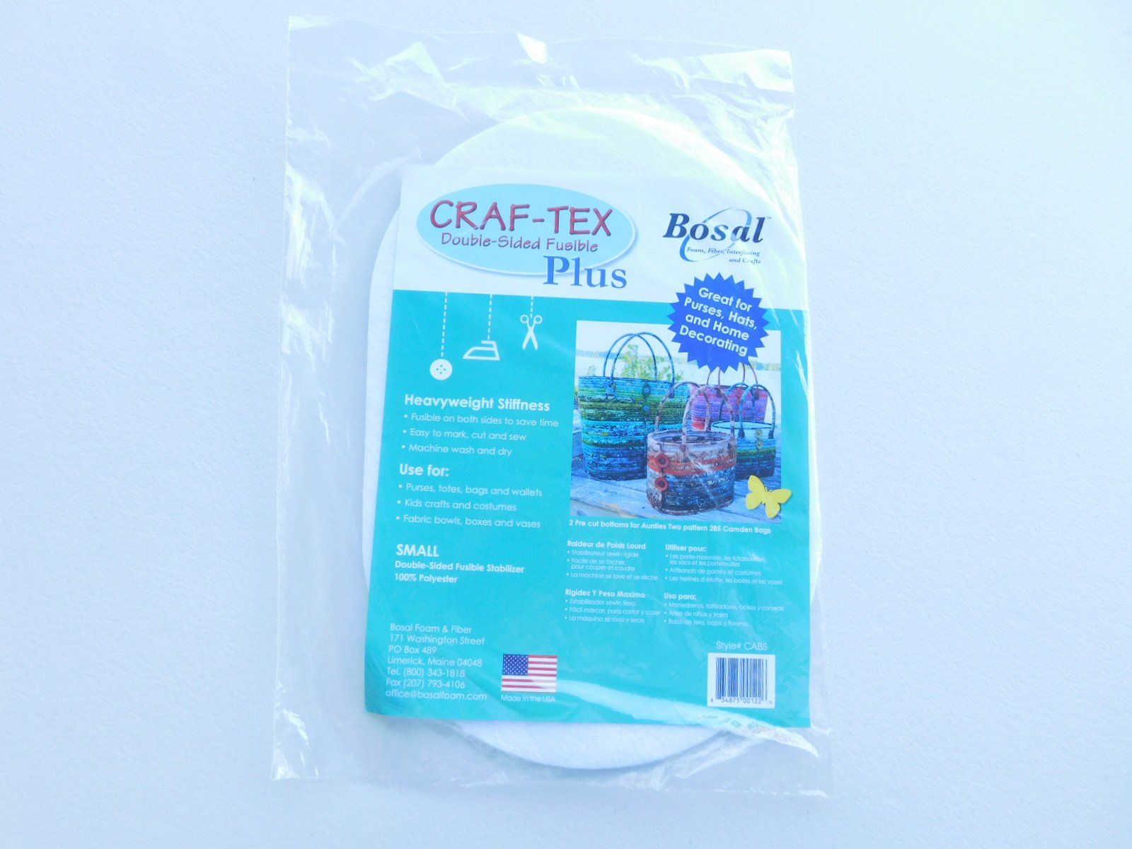 Bosal Craf-Tex Double-Sided Fusible Ovals Small