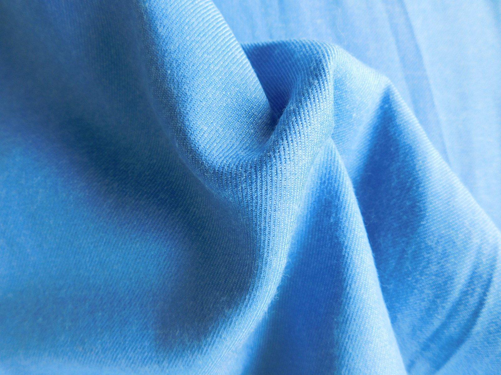 Blue Italian  Wool Challis