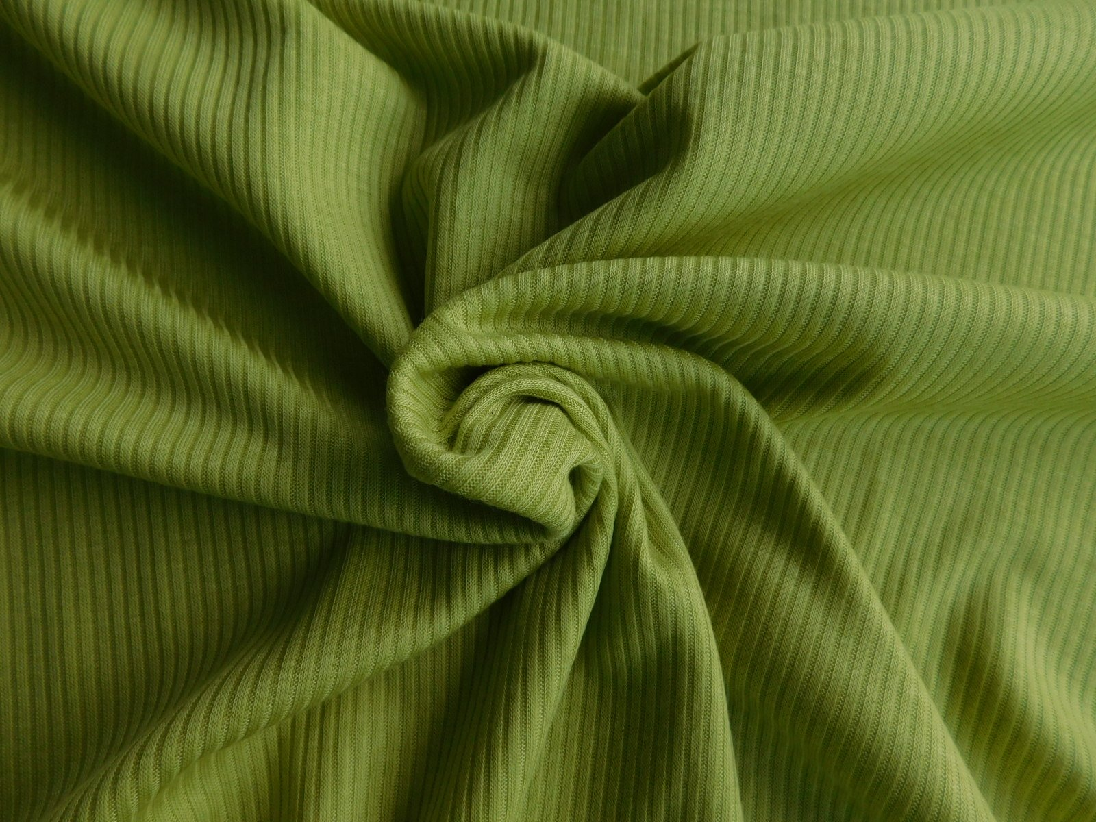 Citrine Green Rayon Ribbed Knit