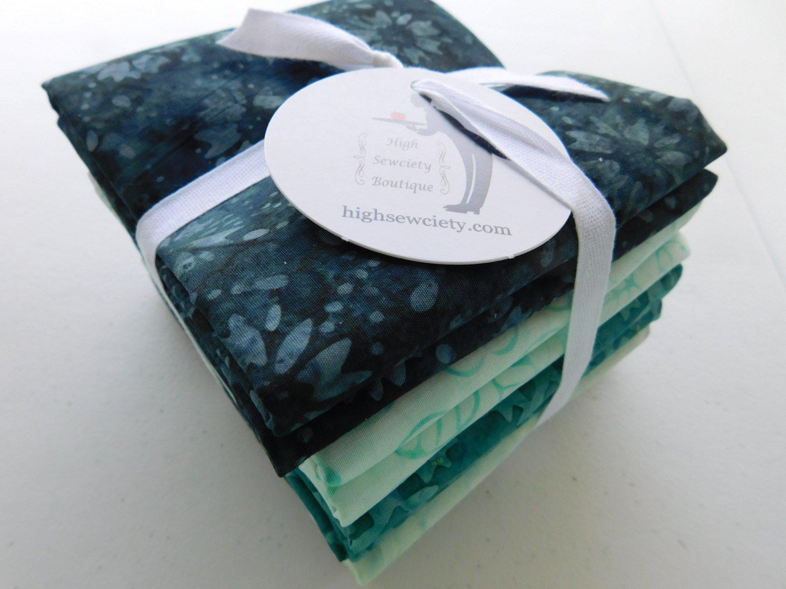 Tonga Green Batik 1/2 yd Bundle