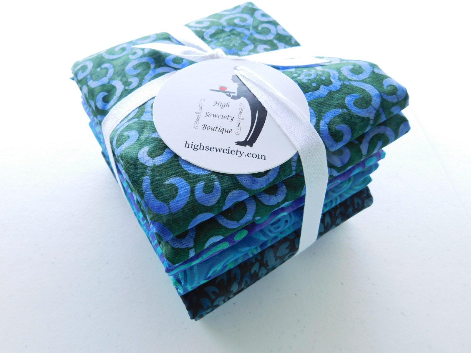 Blue Waters Batik 1/2 yard Bundle