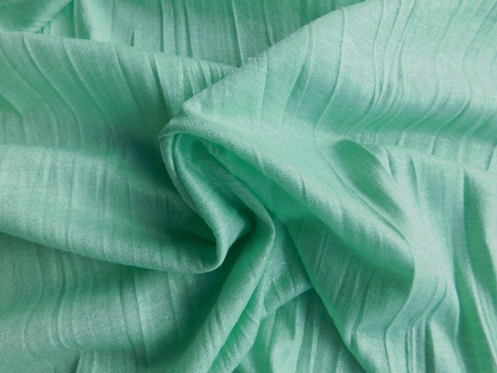 Sage Green Glitter Crinkle Knit