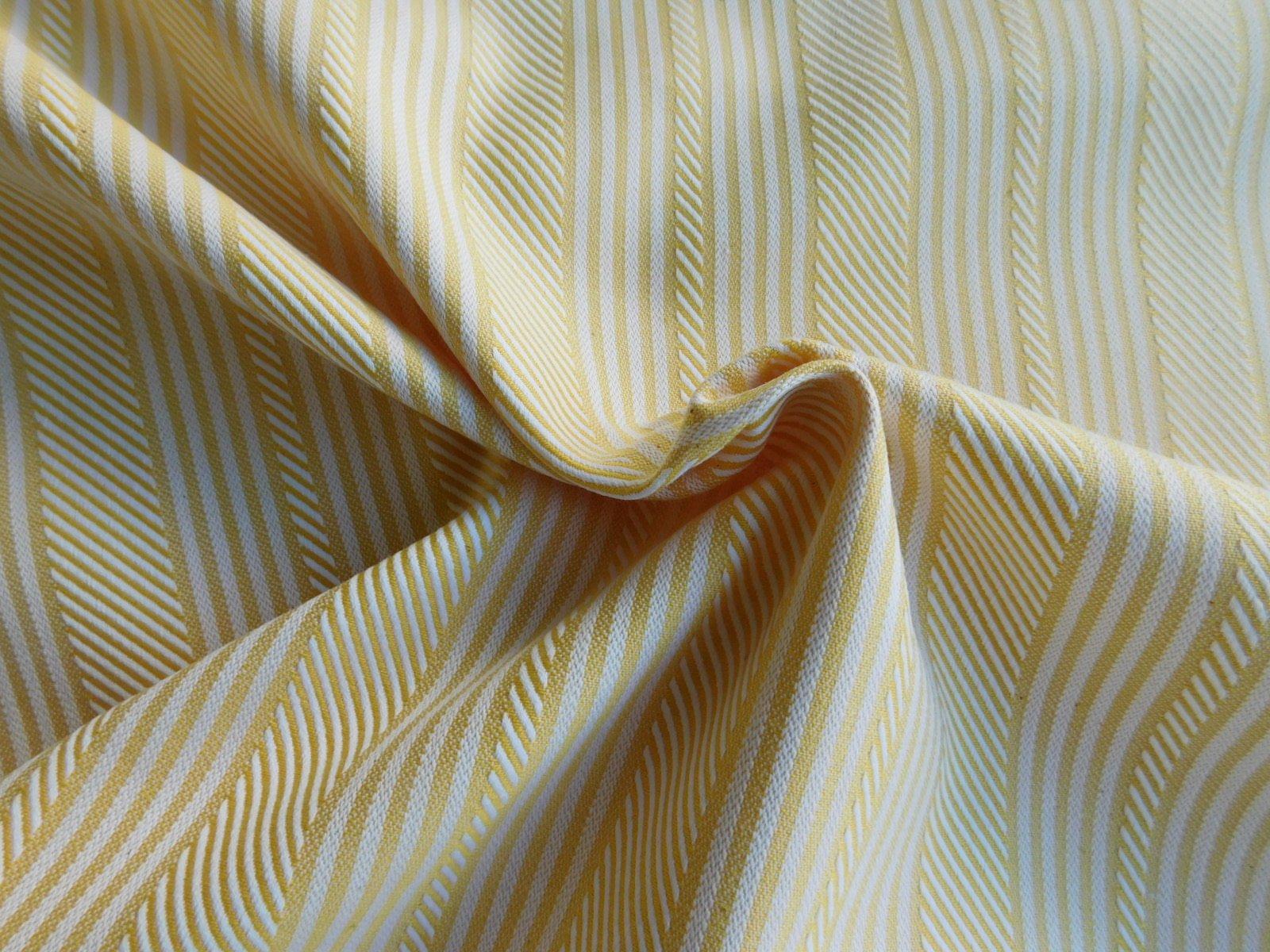 Yellow Stripe Cotton Jacquard