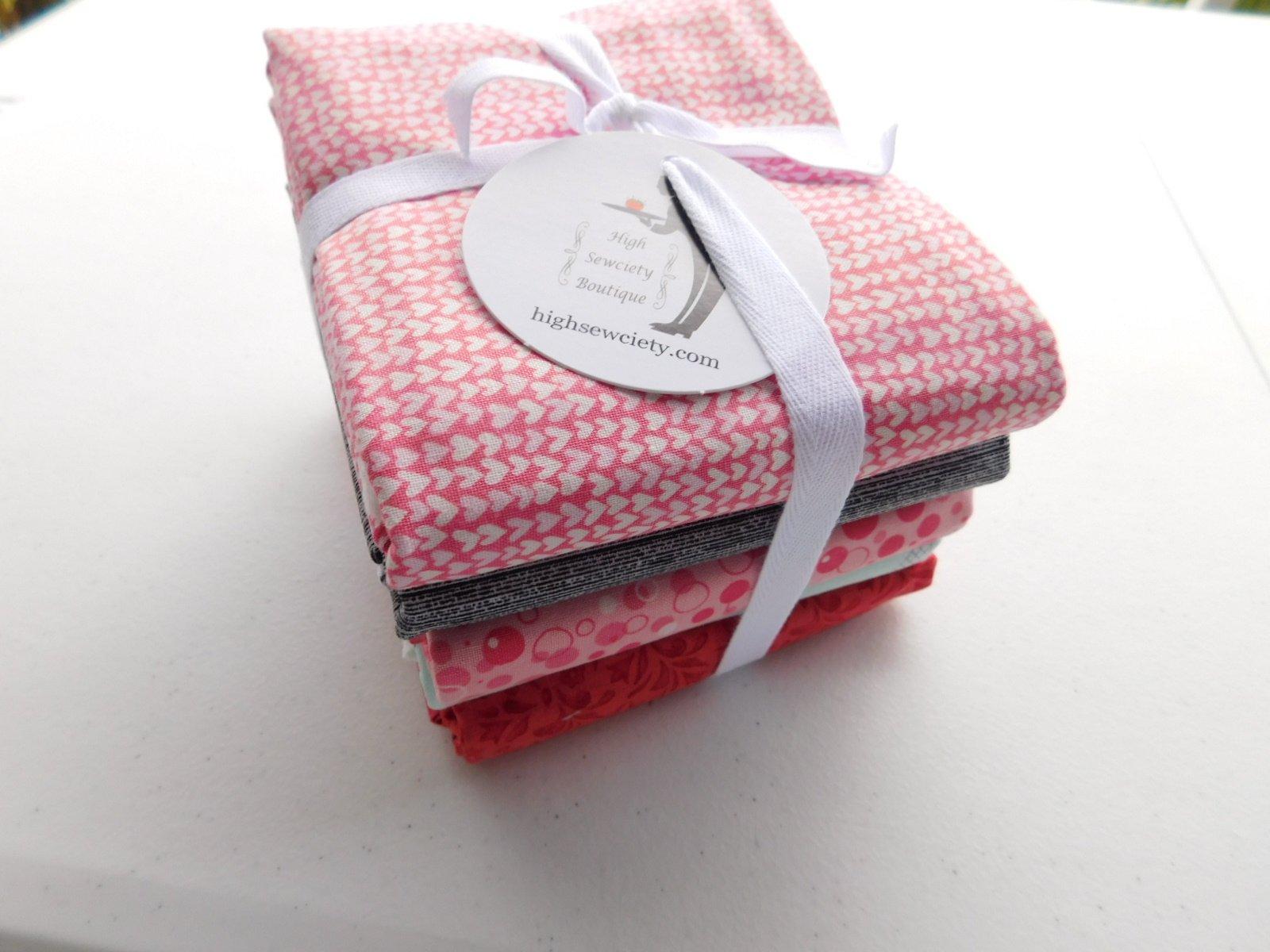 v2 Modern baby 1 yd fabric bundle-pink blue orange gray