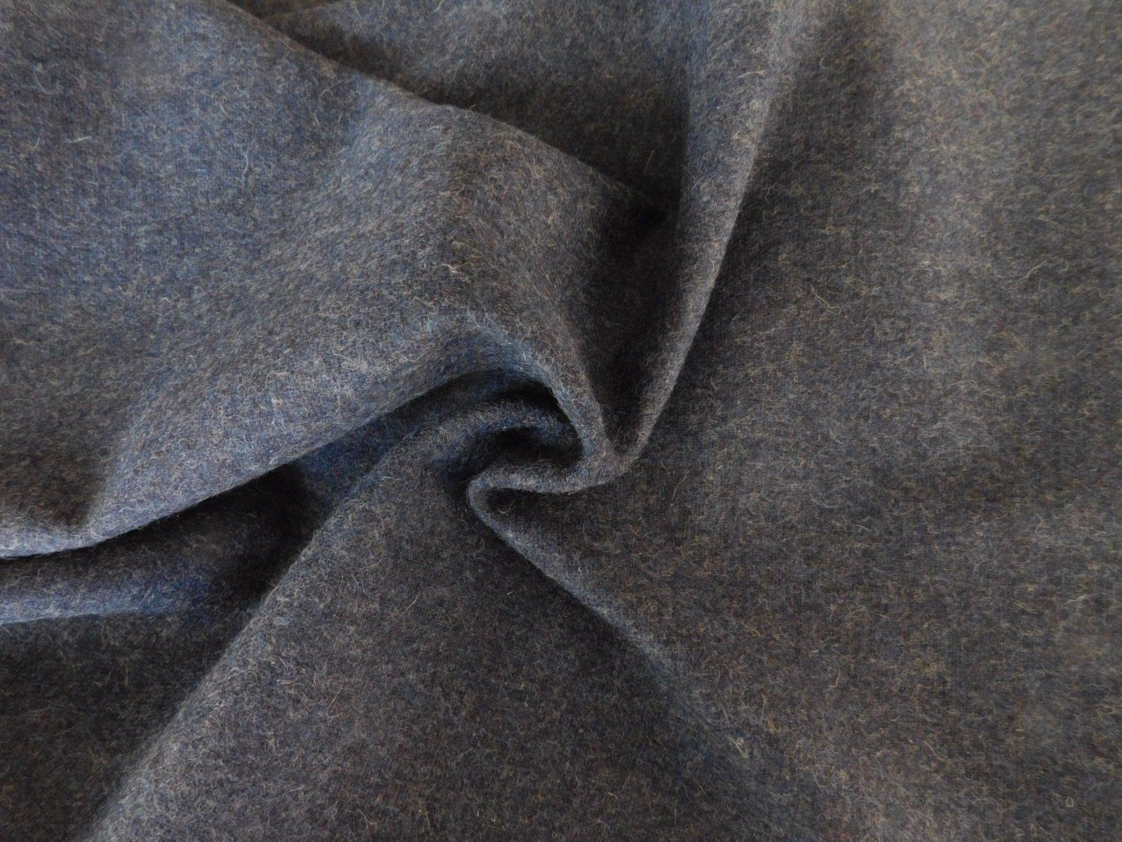 Navy Blue Wool Melton