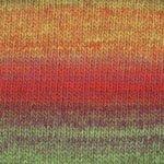 Gina  #0005 Red/Green/Orange/Gold 100% Wool Space Dyed