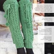 12 Days of Winter Sugar Forest Fir Legwarmers KIT in Deluxe Worsted
