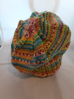 READY TO WEAR! Knit Col ADULT Wool Hat F346