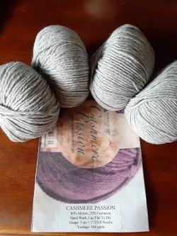 Cashmere Passion Heather Grey Sock Kit