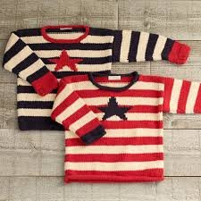 RED STRIPED Stars and Stripes Organic Pullover by Appalachian Baby