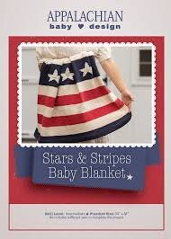 STARS and STRIPES Organic Baby Blanket/Throw by Appalachian Baby