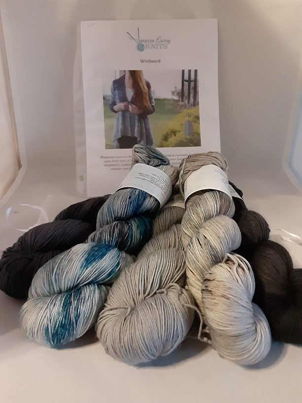 Windward Cardi KIT in Abyss-WitchesofWildwood-Mollusk-Limpet-Southern Quahog
