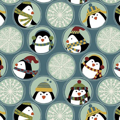 FQ 10042 F 55 Penguins Flannel