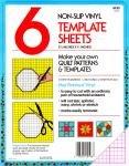 Blank Plastic Template Sheet 6 ct
