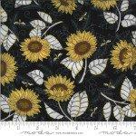 .44 Yd 19962 14 Bee Grateful Sunflowers on Black