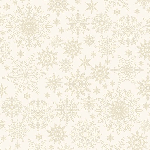 2649-07 Tonal Snowflake Light Cream