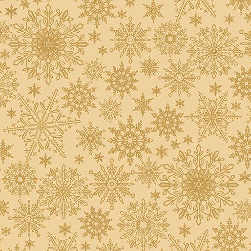 2649 30 Tonal Snowflake Golden