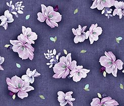 JACQUELINE TOSSED FLOWERS Dk Grape