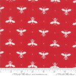 FQ 2951 13 Red w/cream bees