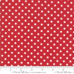 FQ 2953 11 My Redwork Garden Red w/cream dots