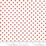 FQ 2953 13 My Redwork Garden Cream w/red dots