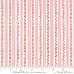FQ 2954 13 My Redwork Garden Cream w/Stripe