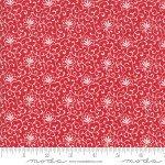 FQ 2955 11 My Redwork Garden Red w/cream lilies