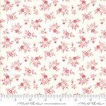 FQ 2956 13 My Redwork Garden Cream w/Red Roses