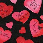 490912B Love Notes blk/red
