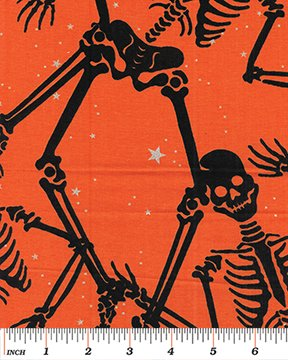 3 Yd Bundle Halloween Skeletons