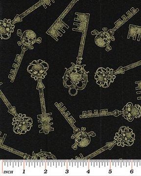 4939M-99 Skelton Key Black/Gold