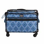 Tutto Sewing Machine Case On Wheels Large 21in Blue Diamond