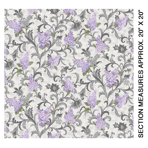 5483-13 Lilac Vine Scroll Light Grey
