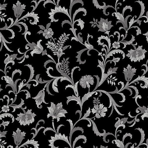 5484-12  Vine Scroll Black
