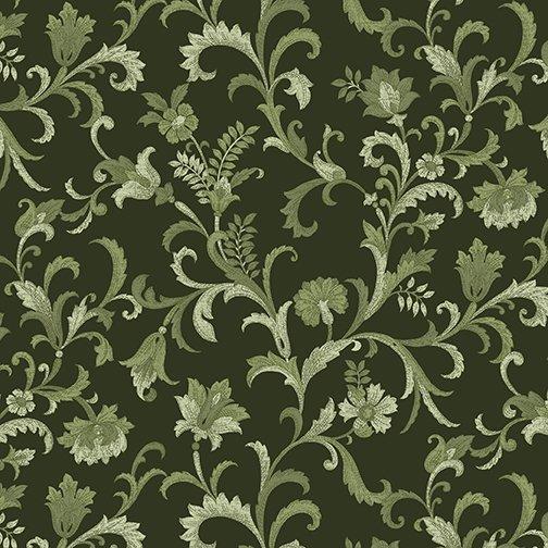 5484-44 Vine Scroll Green