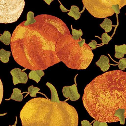 8318-12 Pumpkin Harvest Blk