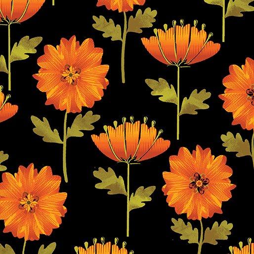 8320-12 Autumn Flower Black