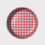 Magnetic Pin Bowl Red Gingham