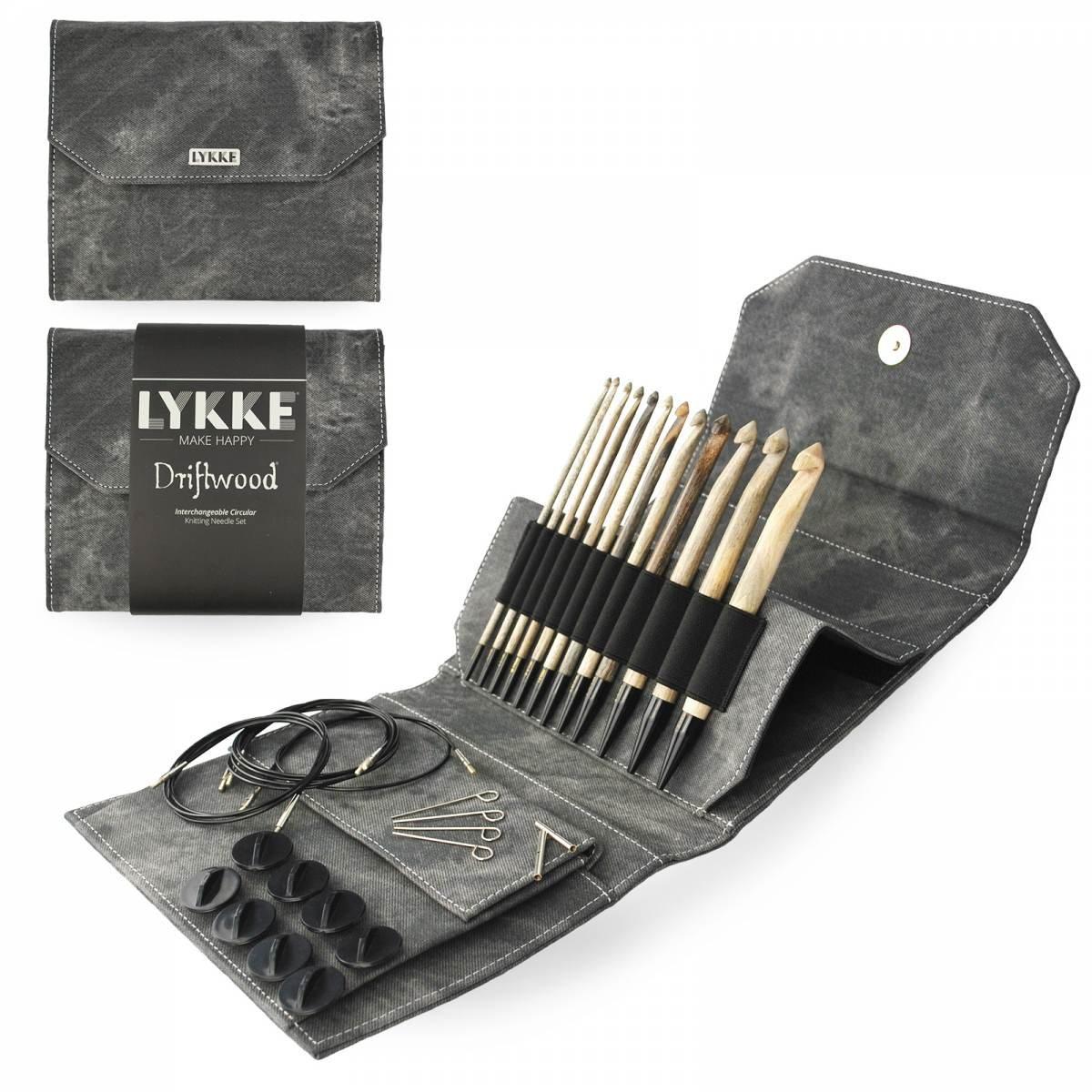 Lykke Driftwood 6 IC (Tunisian) Crochet Hook Set