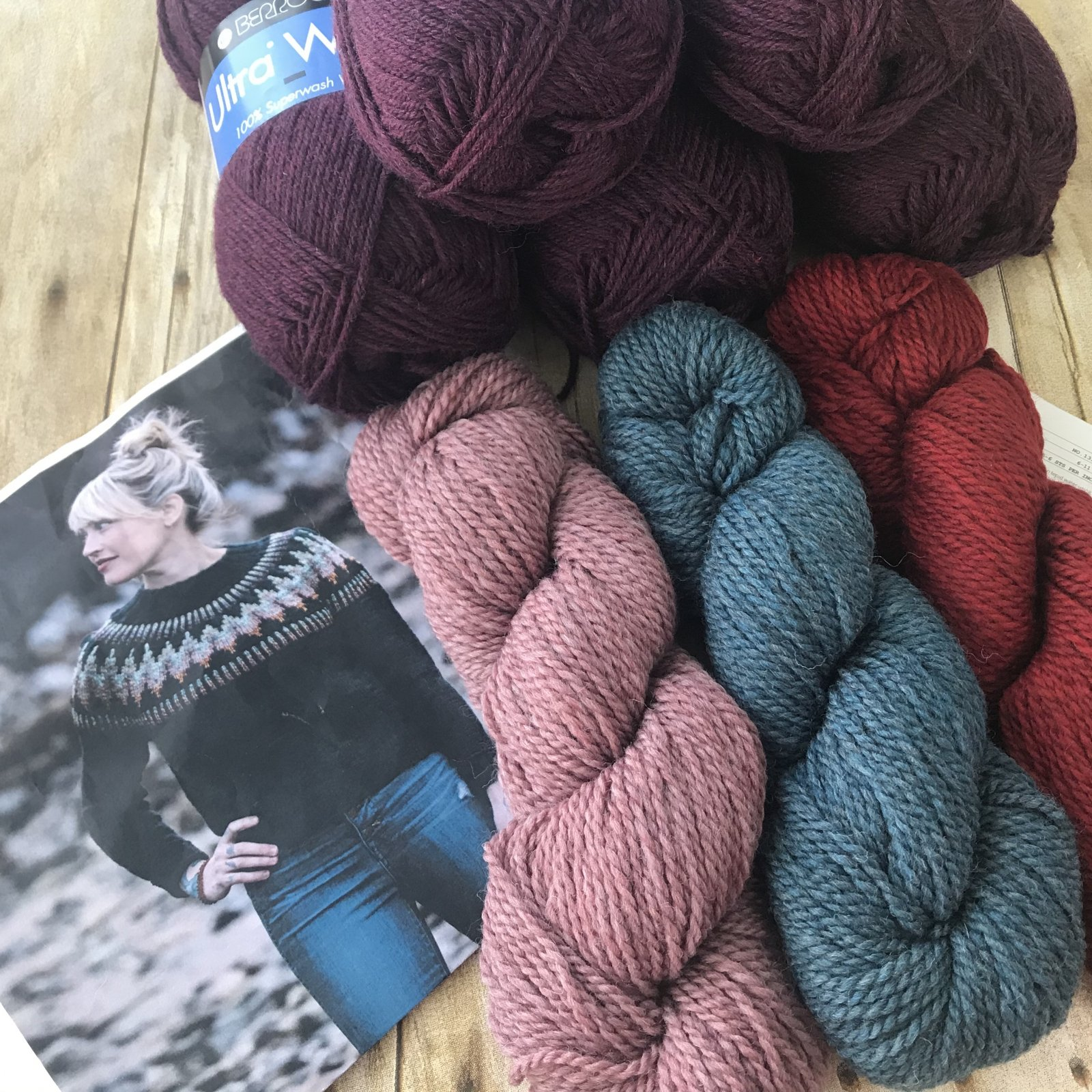 The Throwover Sweater Kit (w/ Ultra Wool main color)