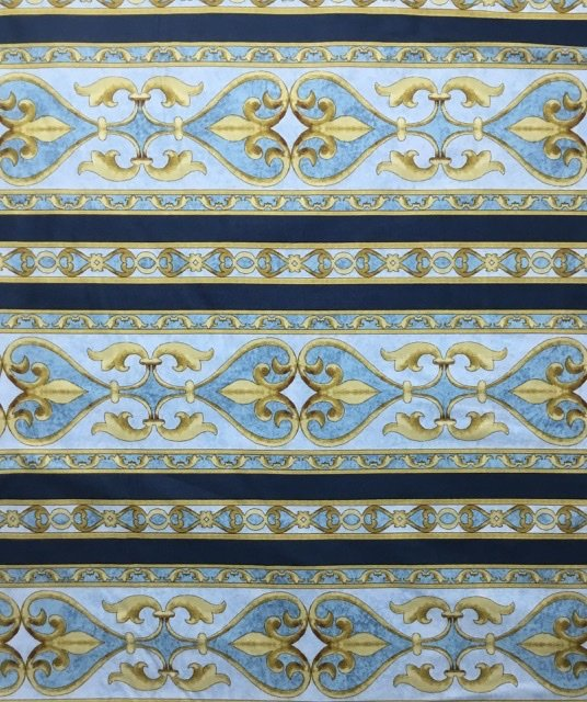 IMPRESSIONS STRIPE BLUE BY JINNY BEYER FOR RJR FABRICS