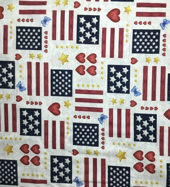 AMERICA THE BEAUTIFUL LARGE PRINT BY JANE ALISON FOR HENRY GLASS FABRICS