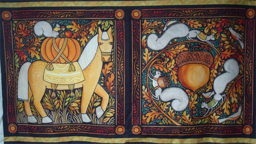 AUTUMN PANEL - BY JULIE PASCHKIS AND IN THE BEGINNING FABRIC