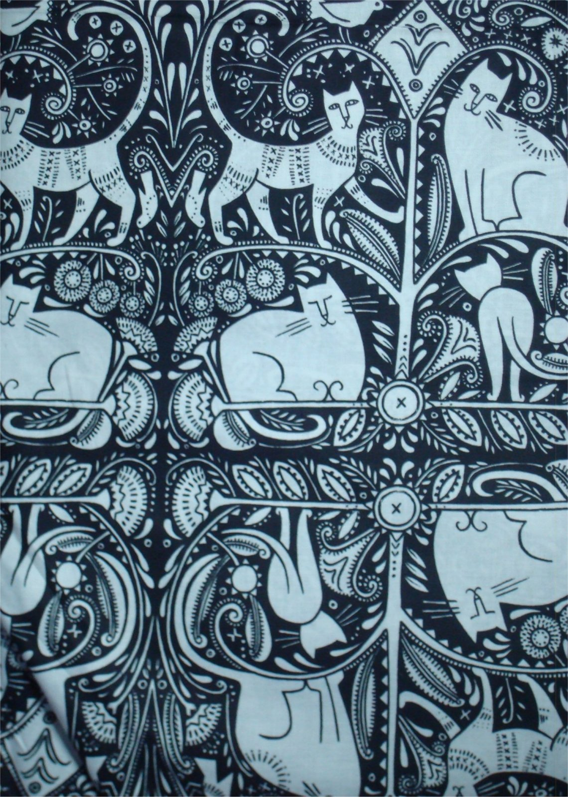 HEY DIDDLE DIDDLE-CATS- BY JULIE PATCHKIS AND IN THE BEGINNING FABRICS