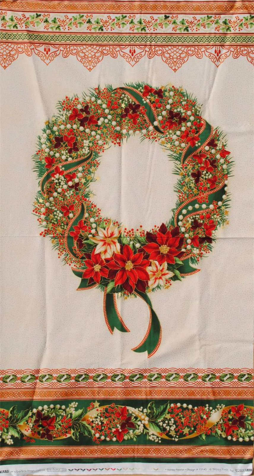 HOLIDAY FLOURISH 8 PANEL BY PEGGY TOOLE
